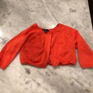 🍁🍂FALL: Orange Baby Gap Cardigan Sweater